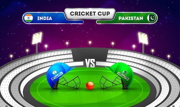 Torneio de partida de críquete entre a índia