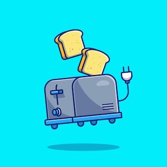 Torradeira e pão. tecnologia alimentar