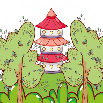 Torre astiana na natureza