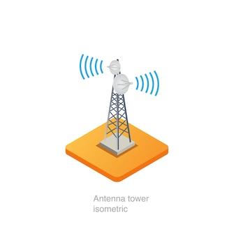 Torre de antena isométrica