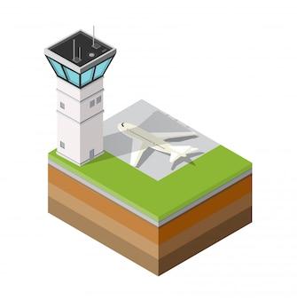 Torre de controle de pista de aeroporto