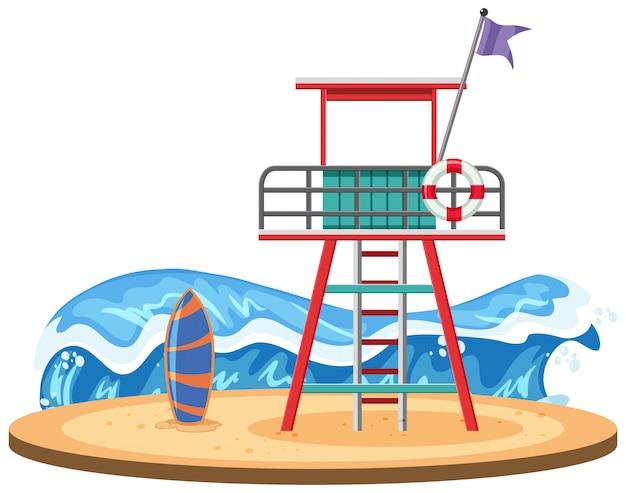 Torre de salva-vidas na praia