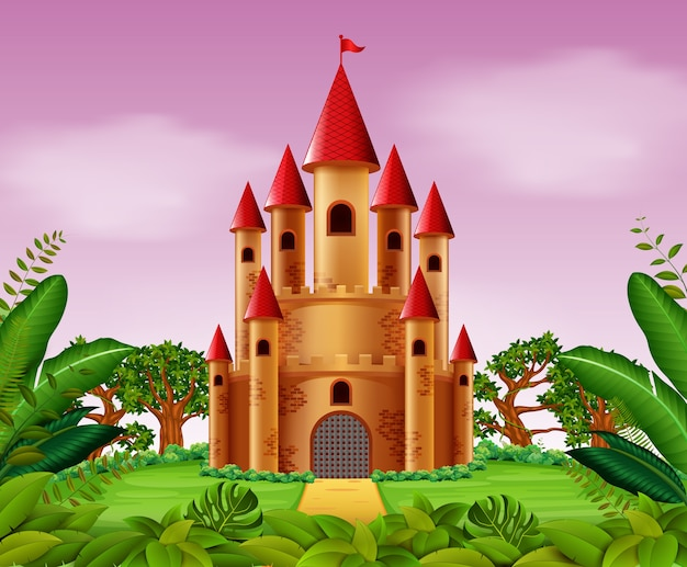 Torres do castelo na selva