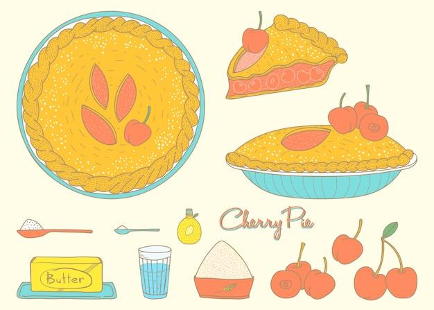 Torta de cereja caseira
