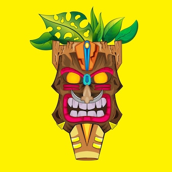 Totem tiki mask ilustração da cultura indiana
