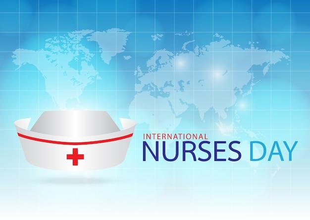 Touca de enfermeira de imagem gerada em fundo azul