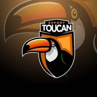 Toucan head logo jogos esport