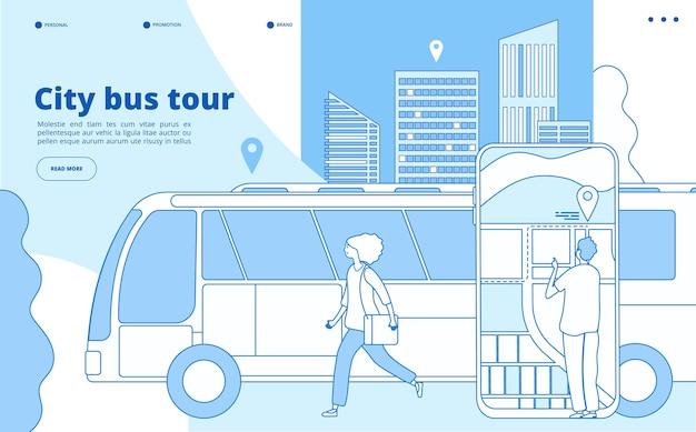 Tour de ônibus da cidade