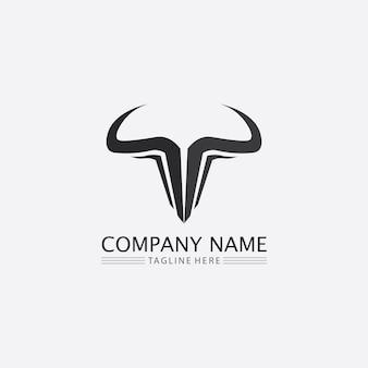 Touro, cabeça de búfalo, vaca, animal, mascote, design de logotipo, vetorial, para, esporte, chifre, búfalo, animais, mamíferos, logo, cabeça, matador selvagem