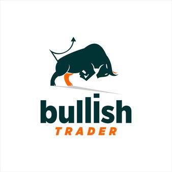 Touro design animal mascote símbolos do mercado de ações