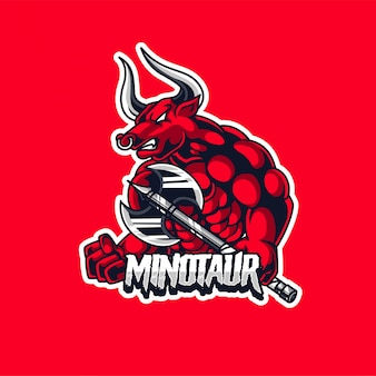 Touro minotaur esport gaming logo