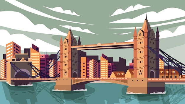Tower bridge london - ponto turístico famoso