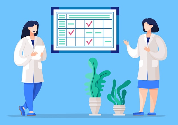 Trabalhador administrativo organiza processo de trabalho no hospital