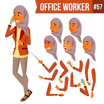Trabalhador de escritório árabe