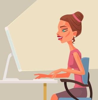 Trabalhador de escritório de mulher.