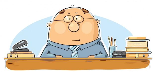 Trabalhador de escritório dos desenhos animados