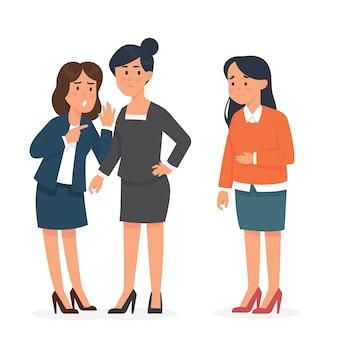 Trabalhador de mulher se intimidar por seu colega de trabalho em seu escritório