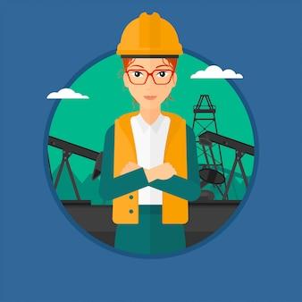 Trabalhador de petróleo cnfident.