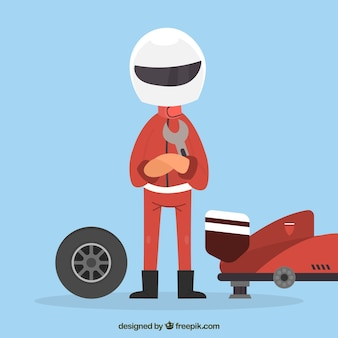 Trabalhador de pit stop de fórmula 1