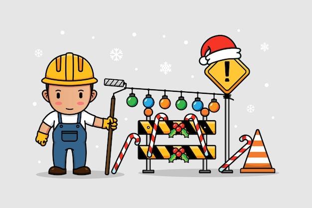Trabalhador no dia de natal