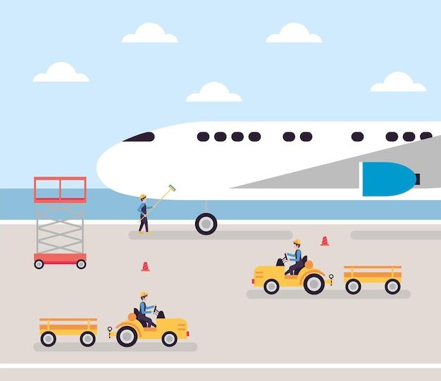 Trabalhadores de aviões e aeroportos