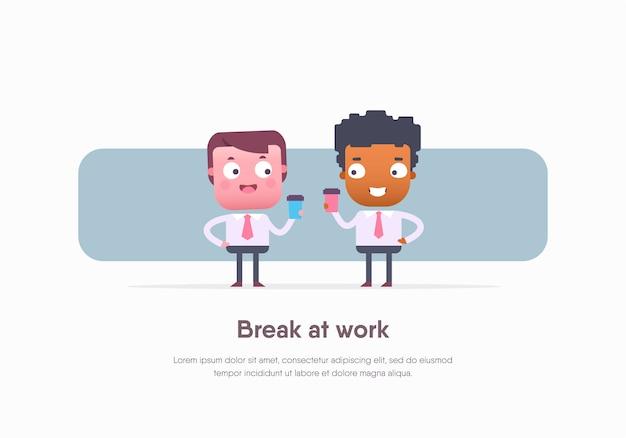 Trabalhadores de escritório. ilustração