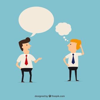 Trabalhadores de escritório que falam