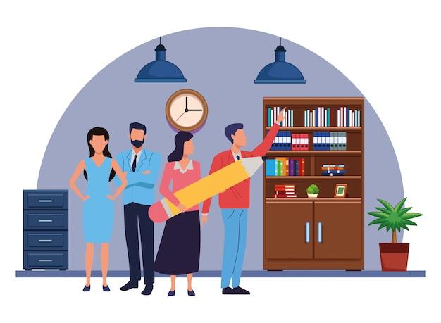 Trabalhadores de negócios executivos com ferramentas