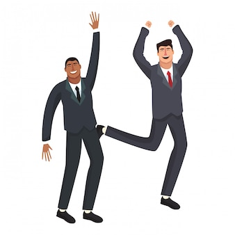 Trabalhadores de negócios feliz