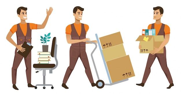 Trabalhadores e clientes do serviço de entrega diferente