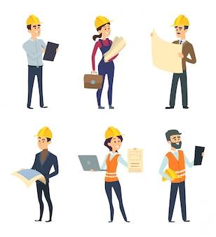 Trabalhadores masculinos e femininos de engenheiros e outras profissões técnicas