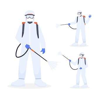 Trabalhadores médicos usa equipamento de proteção individual