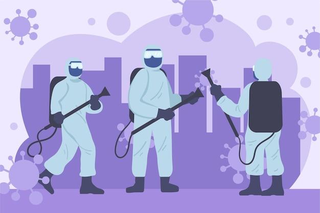 Trabalhadores que prestam serviço de limpeza em áreas públicas