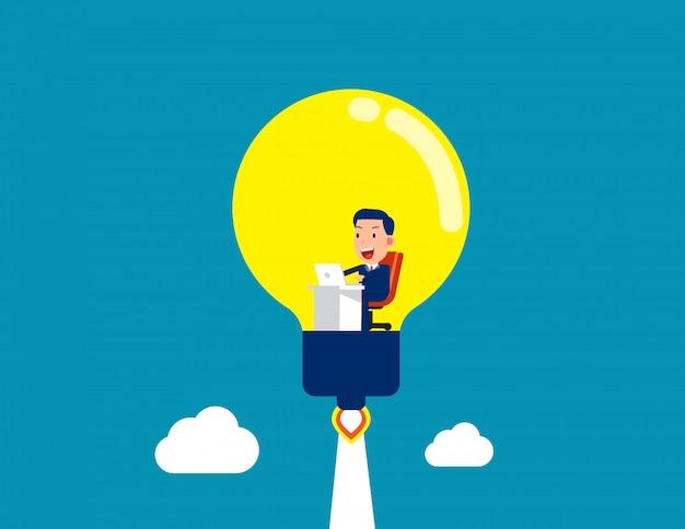 Trabalhando dentro da lâmpada. gerando a ótima idéia e uma nova inicialização