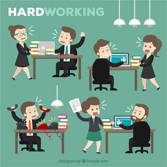 Trabalhando duro