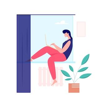 Trabalhando em casa, conceito freelance