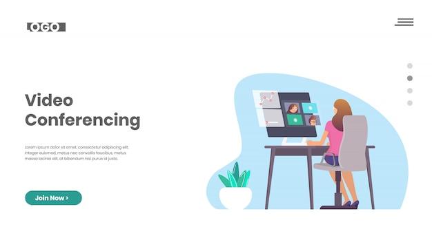 Trabalhando em casa e videoconferência