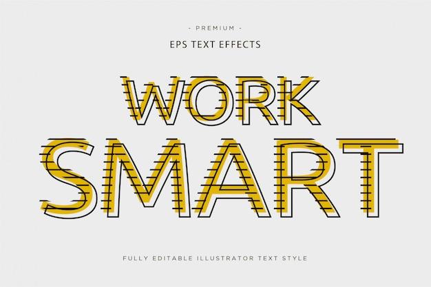 Trabalhar efeito de texto 3d inteligente