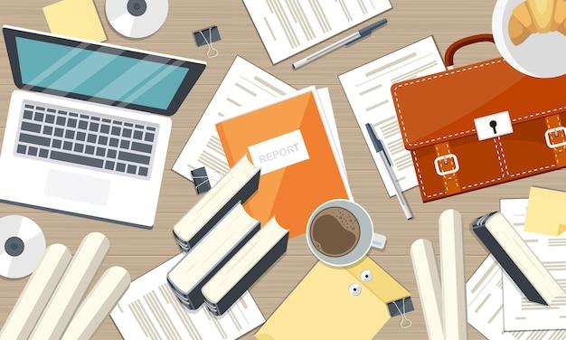 Trabalhar em casa ou ilustração de aprendizagem online