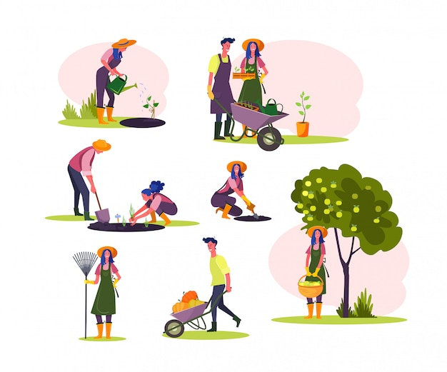 Trabalhar em conjunto de jardim