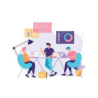 Trabalhar juntos vector