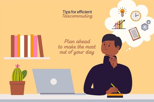 Trabalhe a partir do planejamento do dia em casa