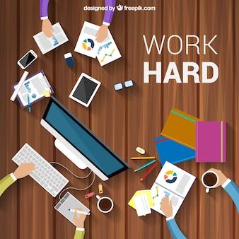 Trabalhe duro fundo