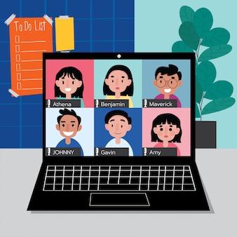Trabalhe em casa com o zoom online