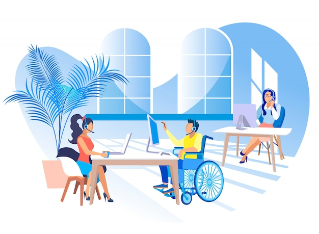 Trabalhe no call center para pessoas com deficiências.