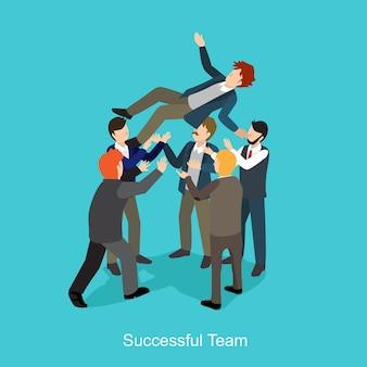 Trabalho de equipe bem sucedido
