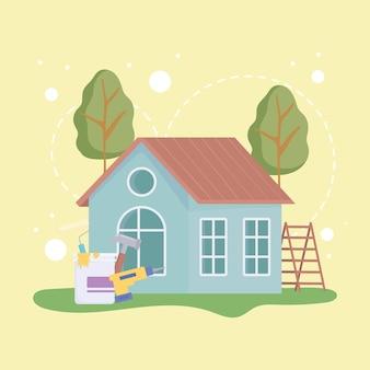 Trabalho de reforma da casa