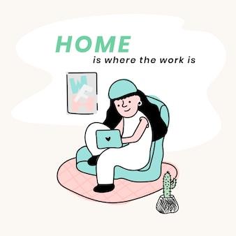 Trabalho em casa com pandemia de coronavírus