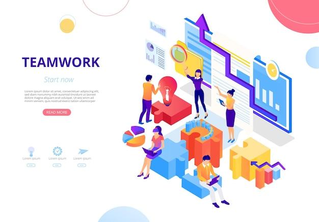 Trabalho em equipe, cooperação empresarial pessoas se encontram, trabalham juntas, buscam parceiros de negócios e investidores