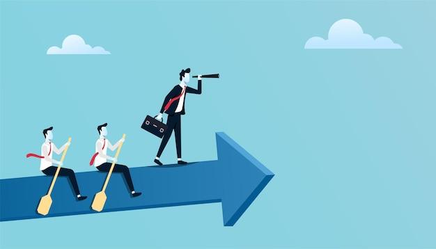Trabalho em equipe de negócios para alcançar o conceito de sucesso juntos.